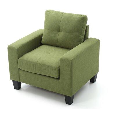 Tiff Armchair Upholstery: Green