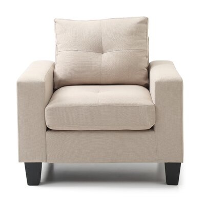 Melantha Arm Chair Color: Beige