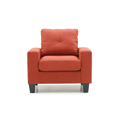Tiff Armchair Color: Orange