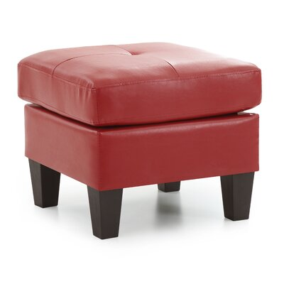 Tiff Ottoman Color: Red