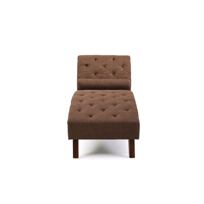 Tiff Traditional Chaise Lounge Finish: Brown
