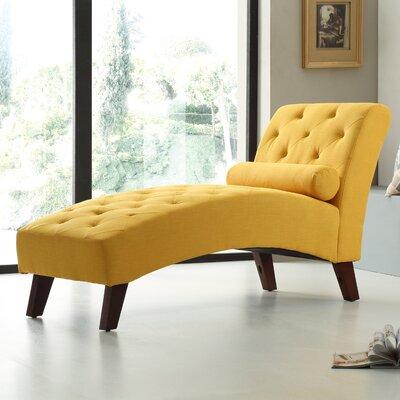 Tiff Chaise Lounge Finish: Yellow