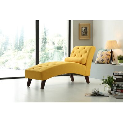 Tiff Traditional Chaise Lounge Finish: Yellow