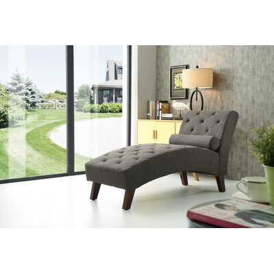 Tiff Traditional Chaise Lounge Finish: Smoke Gray