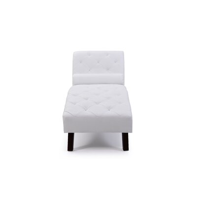 Tiff Chaise Lounge Finish: White