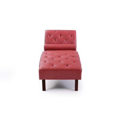Tiff Chaise Lounge Finish: Red