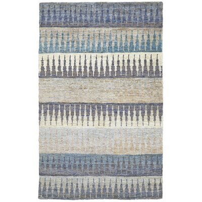 Vandergriff Blue/Beige Area Rug Rug Size: Rectangle 56 x 86