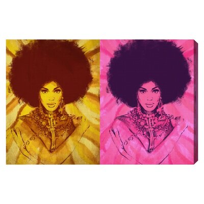 'Queen of Disco' Graphic Art on Wrapped Canvas Size: 10