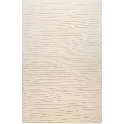 Bushway Ivory Area Rug Rug Size: Rectangle 33 x 53