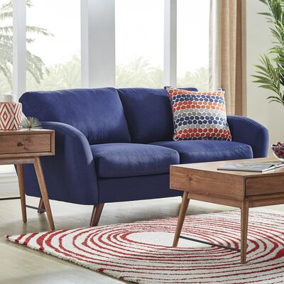 Garraway Loveseat Upholstery: Twilight Blue