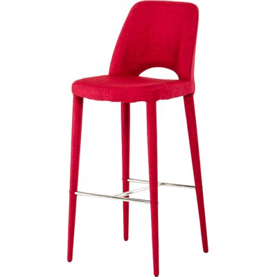 Sluss 30 inch Bar Stool Finish: Red