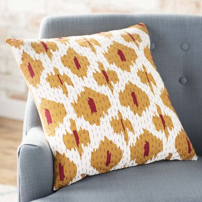Filipina 100% Cotton Throw Pillow Cover Size: 22 H x 22 W x 1 D, Color: OrangeRed
