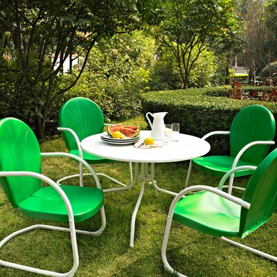 Timothea 5 Piece Dining Set Chair Finish: Grasshopper Green