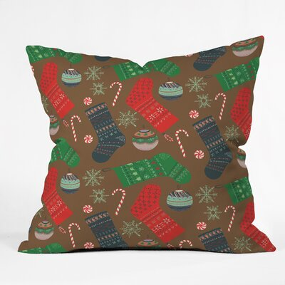 Christmas Ornaments Throw Pillow Size: 18 H x 18 W x 5 D