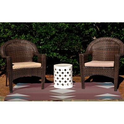 Sextans Geometric Print Orange Indoor/Outdoor Area Rug Rug Size: 3 x 5