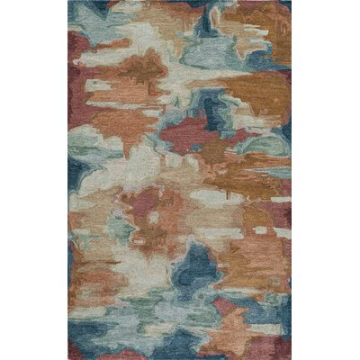 Vallone Hand-Tufted�Brown/Blue Area Rug Rug Size: Rectangle 36 x 56