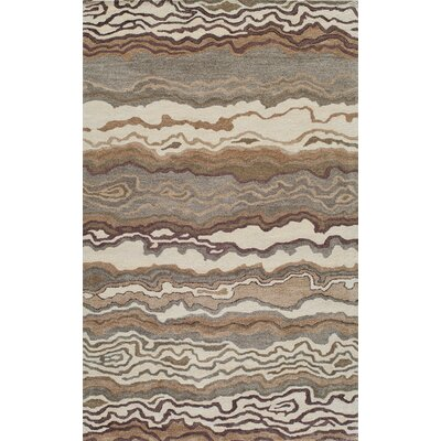 Brooks Hand-Tufted�Sand Area Rug Rug Size: 86 x 116