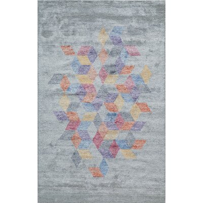 Brooks Hand-Tufted Gray Area Rug Rug Size: 86 x 116