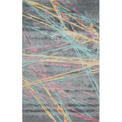 Brooks Hand-Tufted Gray/Yellow Area Rug Rug Size: 36 x 56