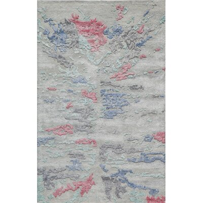 Vallone Hand-Tufted Gray Area Rug Rug Size: Rectangle 76 x 96