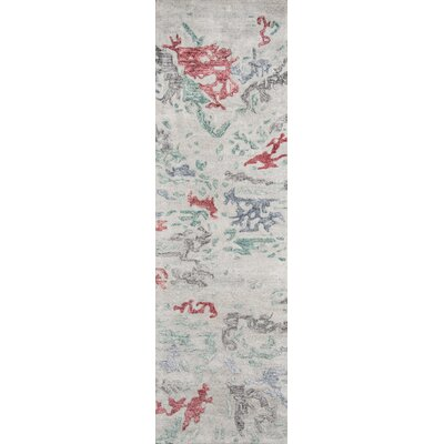 Vallone Hand-Tufted Gray Area Rug Rug Size: Runner 23 x 8