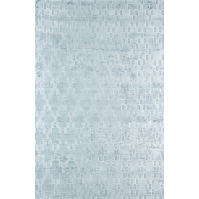 Bridges Hand-Loomed�Blue Area Rug Rug Size: 36 x 56