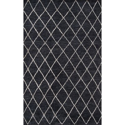 Brice Hand-Knotted Charcoal Area Rug Rug Size: Rectangle 36 x 56