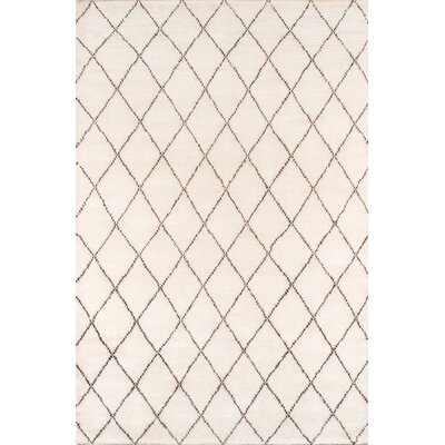 Brice Hand-Knotted Ivory Area Rug Rug Size: Rectangle 96 x 136