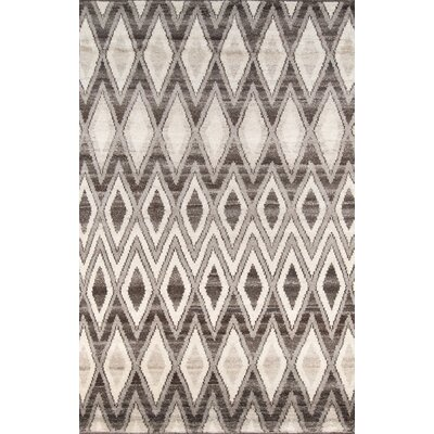 Brice Hand-Knotted Natural Area Rug Rug Size: 5 x 8