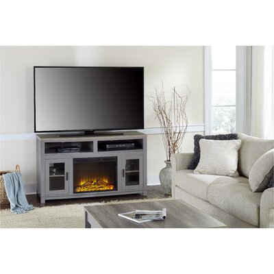Callowhill TV Stand with Electric Fireplace Finish: Gray