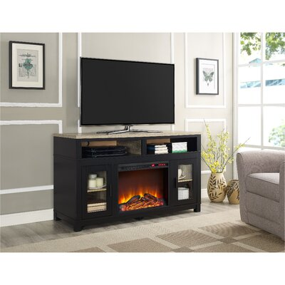 Callowhill TV Stand with Electric Fireplace Finish: Black