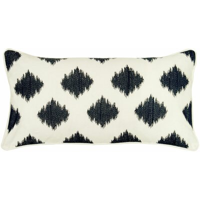Getchell 100% Cotton Lumbar Pillow Color: Cream / Black
