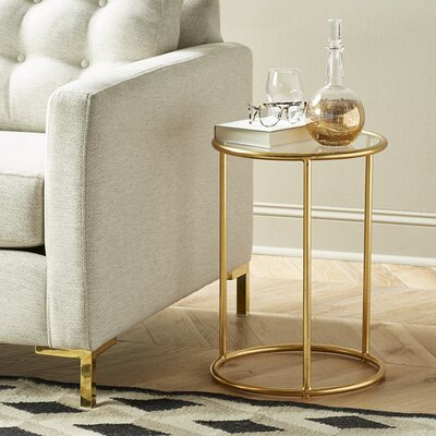 Geter Side Table Finish: Gold