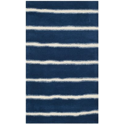Martha Stewart Wrought Iron Navy Area Rug Rug Size: Rectangle 4 x 6