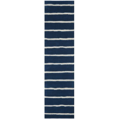 Martha Stewart Wrought Iron Navy Area Rug Rug Size: Runner 26 x 10