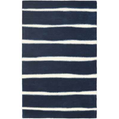 Martha Stewart Wrought Iron Navy Area Rug Rug Size: 5 x 8