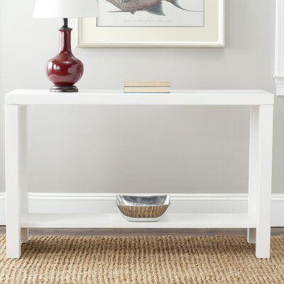 Geyer Console Table Finish: White