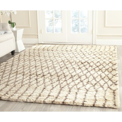 Gholston Tan/Brown New Zealand Area Rug Rug Size: Rectangle 4 x 6