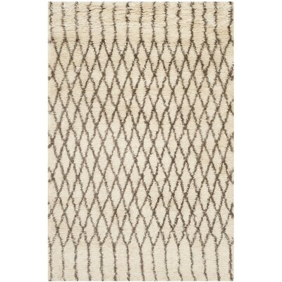 Gholston Tan/Brown New Zealand Area Rug Rug Size: 5 x 8