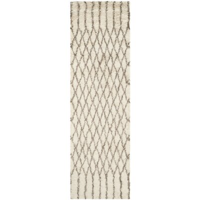 Gholston Tan/Brown New Zealand Area Rug Rug Size: Runner 23 x 8