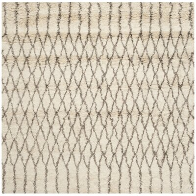 Gholston Tan/Brown New Zealand Area Rug Rug Size: Square 6