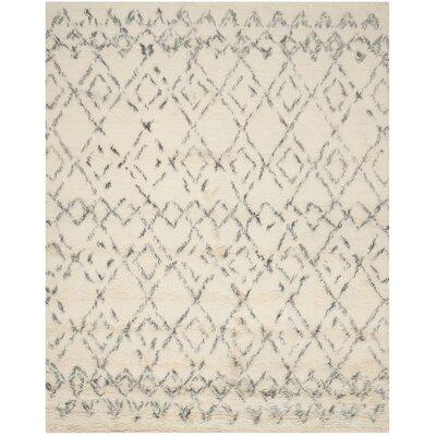 Gholston White/Grey Area Rug Rug Size: 11 x 15