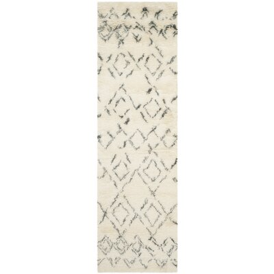 Gholston White/Grey Area Rug Rug Size: Runner 23 x 12