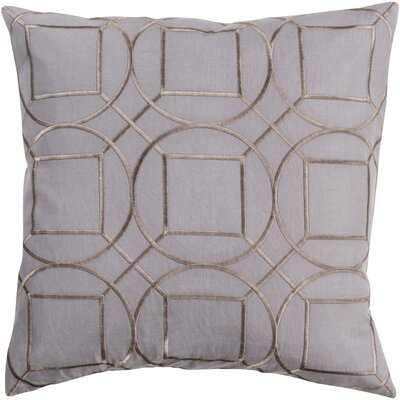 Alam Linen Pillow Cover Size: 18 H x 18 W x 1 D, Color: Gray
