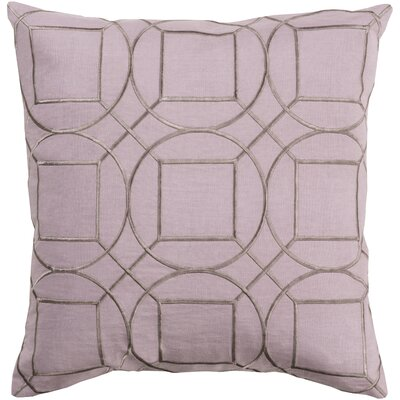 Alam Linen Pillow Cover Size: 18 H x 18 W x 1 D, Color: LilacGray
