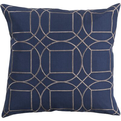 Alam Linen Pillow Cover Size: 18 H x 18 W x 1 D, Color: BlueGray