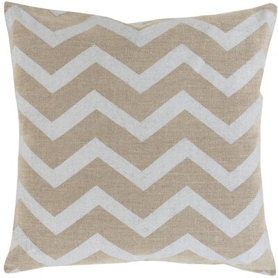 Giese 100% Linen Throw Pillow Cover Color: MetallicBrown, Size: 20 H x 20 W x 1 D