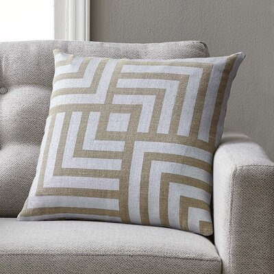 Giffin Pillow Cover Color: Metal, Size: 22 H x 22 W x 1 D