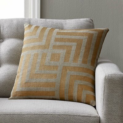 Giffin Pillow Cover Color: Gold, Size: 18 H x 18 W x 1 D