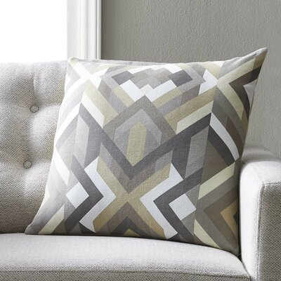 Giguere 100% Cotton Pillow Cover Size: 18 H x 18 W x 1 D, Color: Gray